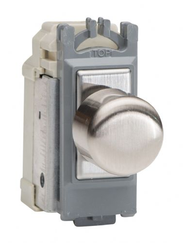 Varilight GH0S Powergrid Module Steel 2-Way Push-On/Off Switch (Dummy Dimmer) 6A